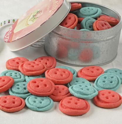Galletas de vainilla en forma de botones