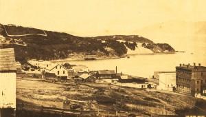 Vista de la zona de North Beach, en 1856