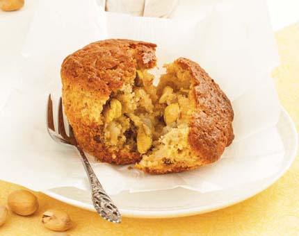 Muffins de pera y pistachos. Receta con Thermomix