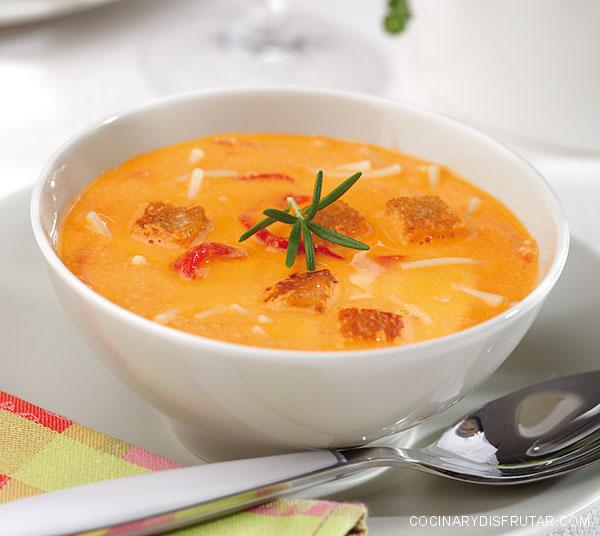 Sopa de pimientos asados – Andalucía