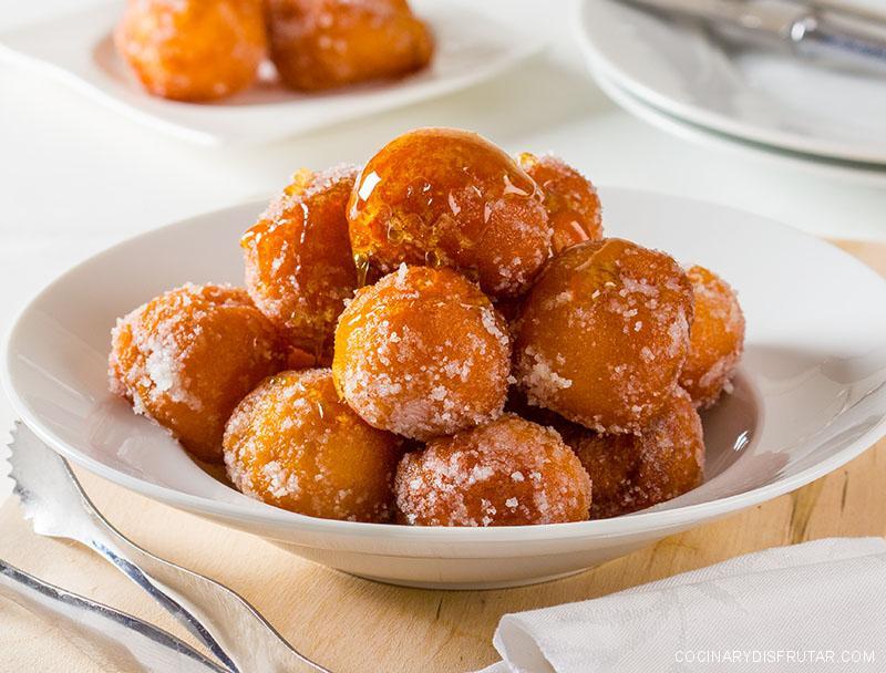 Buñuelos de manzana para Semana Santa