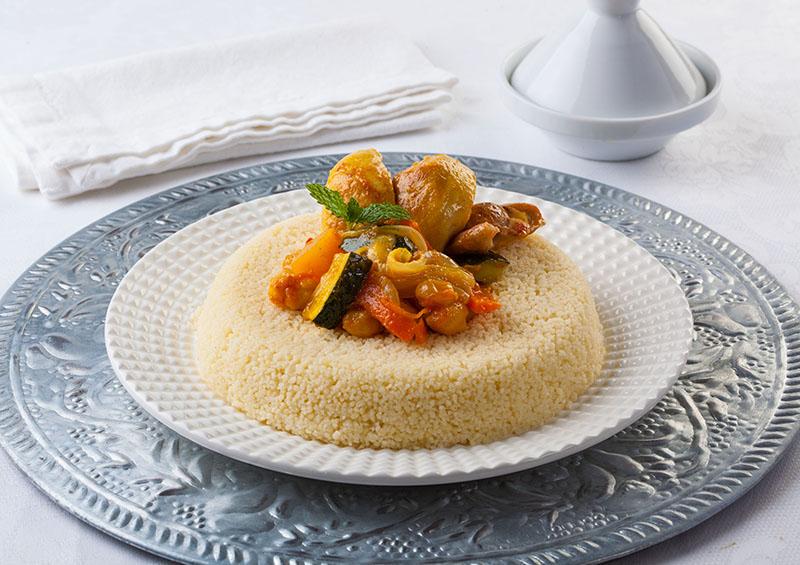 Cuscús marroquí con pollo y verduras