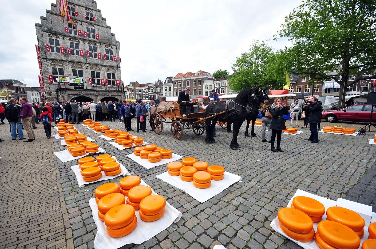 Mercado de queso Gouda